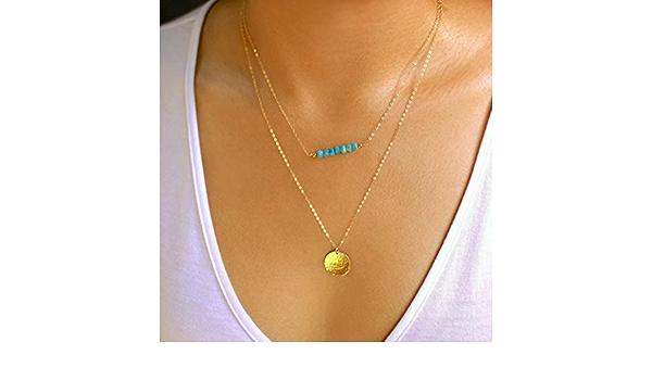 Faceted Gemstone Necklace Stocking Stuffer Gold Necklace Gemstone Necklace Christmas Gift for Her Layering Necklace Boho Necklace