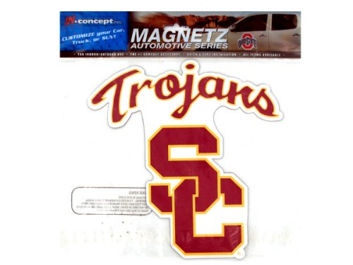 (NCAA USC Trojans, Football, Fight On, Car Magnet)