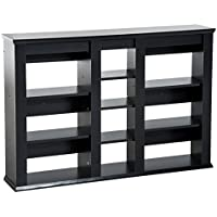 HomCom Wall Mount CD / DVD Media Storage Shelf Rack ,Organizer (Black)