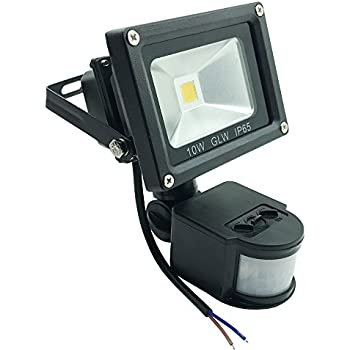 41eiDW85kgL._SL500_AC_SS350_ led motion sensor light 750lm, glw 10w pir flood light, outdoor Leviton Motion Sensor Wiring Diagram at sewacar.co