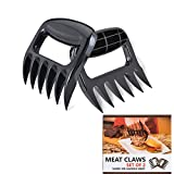 DDcafor Meat Pull Shredder Claws BBQ Heat Resistant Bear Paws with Black Handles Cut Lifting Pork Chicken Beef Set of 2