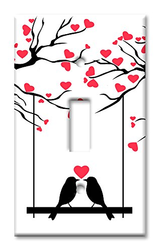 Art Plates Brand Single Toggle Switch / Wall Plate - Love Birds