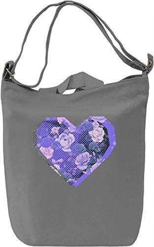 Purple Heart Borsa Giornaliera Canvas Canvas Day Bag| 100% Premium Cotton Canvas| DTG Printing|