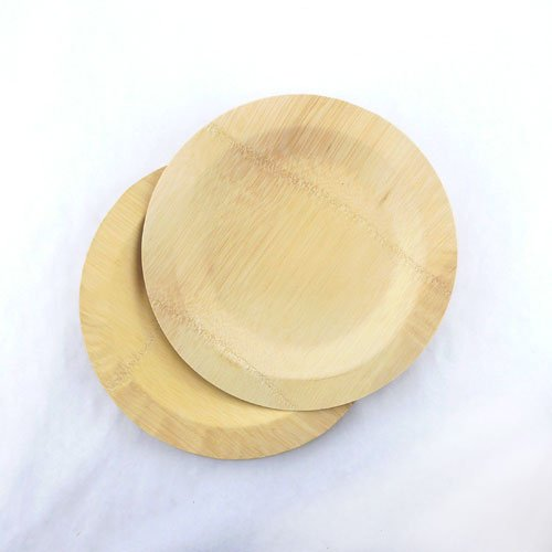 BambooMN Brand - 11'' (28cm) Round Disposable Bamboo Veneer Plates, 24pcs by BambooMN (Image #2)