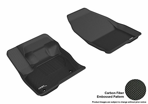 3D MAXpider All-Weather Floor Mats Compatible with Ford Edge 2015-2021 Custom Fit Car Floor Liners, Kagu Series (1st Row…