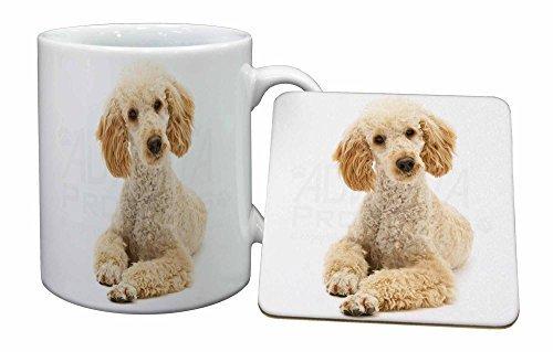 Apricot Poodle Mug and Table Coaster, Ref:AD-CP7MC by Advanta - Mug Coaster Set