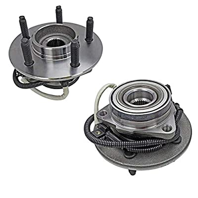 Bodeman - Pair 2 Front Wheel Hub and Bearing Assembly for 2000-2003 Ford F-150 M14 Studs, 4WD, w/ABS - 2004 Ford F-150 Heritage 4WD, w/ABS: Automotive