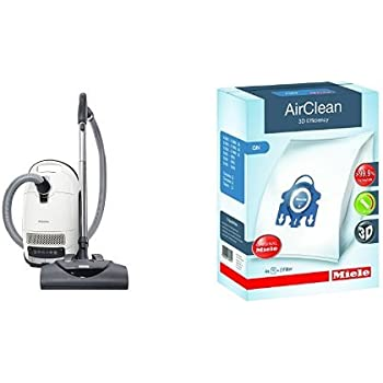 New Miele Complete C3 Cat & Dog Canister Vacuum Cleaner and Miele 10123210 AirClean 3D Efficiency Dust Bag, Type GN, 4 Bags & 2 Filters Bundle