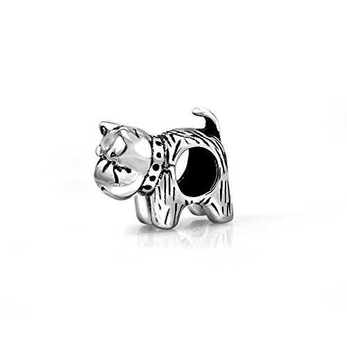 (The Kiss Pet Lover Dog Puppy Paw Family 925 Sterling Silver Bead Fits European Charm Bracelet (Scottie Dog) )