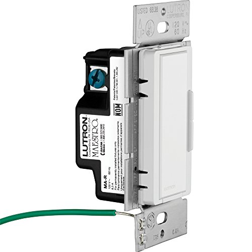 lutron ma-r-wh maestro companion 120v 8 3a designer digital dimmer switch,  white - wall dimmer switches - amazon com