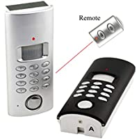 Solar or Room Light Powered Wireless Motion Sensor Auto Dialer Alarm System with Remote Control