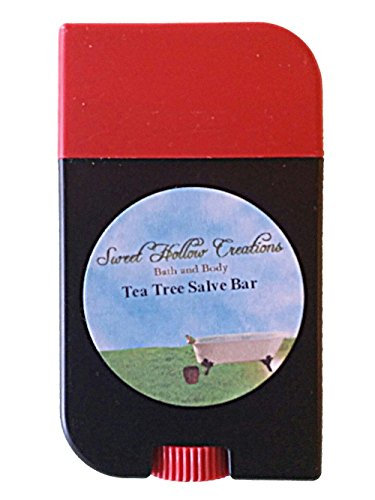 (Tea Tree Lotion Salve Bar Handmade with Rice Bran Oil, Bee's Wax, Shea Butter Vitamin E oil and much more--Hands, Feet, Elbows, Knees and Feet--Beat Winter dry skin)
