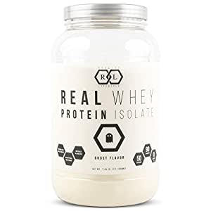 Realist Lifestyle REAL Whey Protein Isolate, Ghost Flavor, Clean Ingredients, 2.45 Pounds, 50 Servings, Soy Free