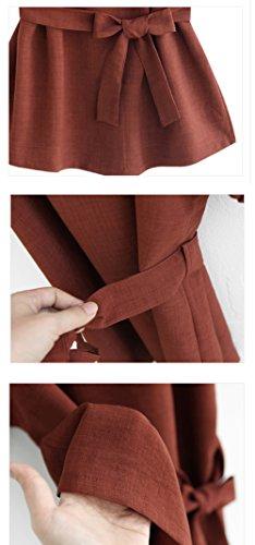 Rouge T Fashion Col Casual t Hauts Unie JackenLOVE Tops avec Bandage Couleur Femmes Chemisiers Chauve Tops V Manches Blouses Shirt Souris Vin 8q1wPvgxP
