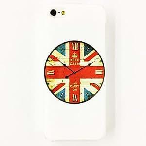 HC-Patrón reloj de la bandera de Estados Unido de plástico duro caso para iPhone 4/4S , Multicolor