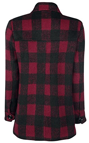 Forplay Checkered Coat Abrigo Mujer rojo/negro rojo/negro