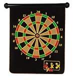 "king's deal 15"" Magnetic Dart Board Set Hanging Wall Rubber Dartboard (black)"
