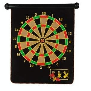 15'' Magnetic Dart Board Set Hanging Wall Rubber Dartboard
