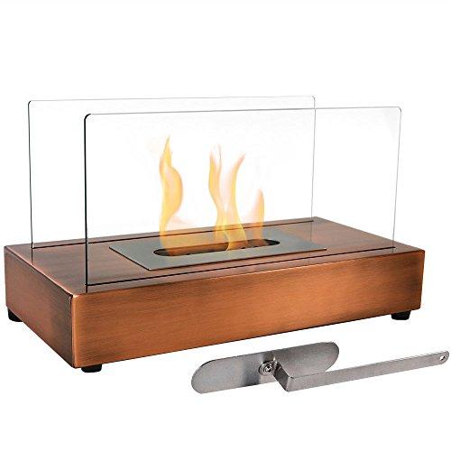 Sunnydaze Copper El Fuego Ventless Tabletop Bio Ethanol Fireplace