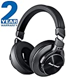 Hiearcool Bluetooth Wireless Headphones Noise Cancelling, Deep Bass Noise Cancelling Headphones Over Ear, Comfortable Protein Earpads Headphones for Travel on Planes - Black