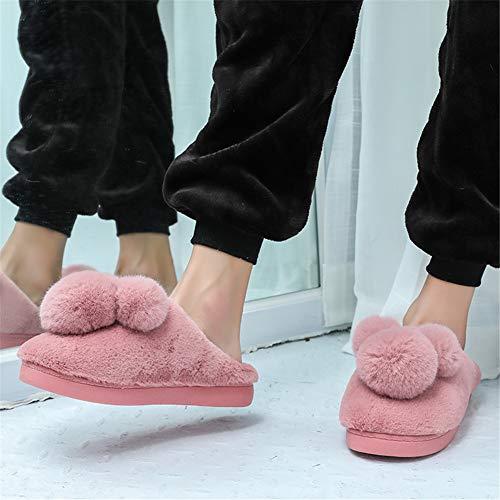 Invernali Pantofole Rosso Bello Caldo Scarpe Donna Cotone Uomo Slittata Interno qr0rzt