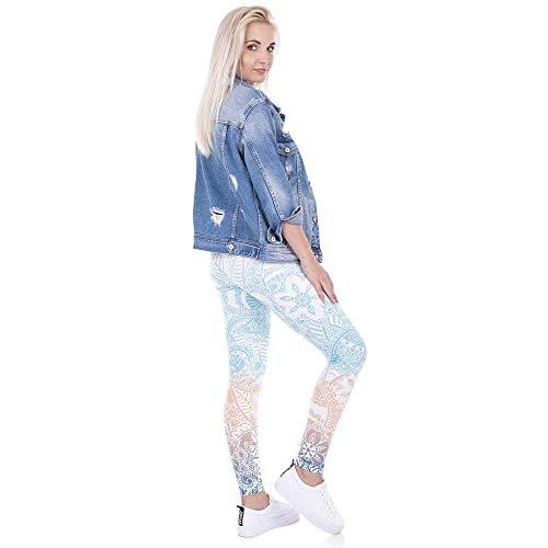 Fitness Shirt T Casuale Marca Leggins Legging Da Donna Lga43469 Pantaloni Mint Stampa Mandala Yoga Donne Battercake Alta Leggings Di Elastica pv7OCqAw