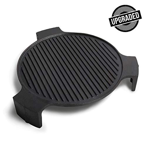 KAMaster Upgraded - Cast Iron Plate Setter Large Big Green Egg Accessories ConvEGGtor for BGE - Fits Large Big Green Egg (for Large BGE Plus)