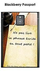 """Kinghousse-Carcasa para Blackberry Passport, diseño con inscripción """"manuscrita Rebelle"""""""