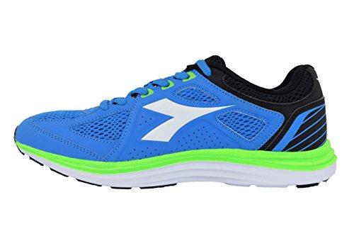 Diadora Heron 2, Chaussures de Running Homme Bleu (Blu Cielo Verde Fluo)