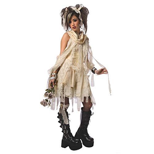 White Gothic Mummy Costume - Medium