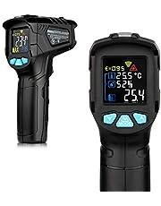 Leeofty -50 ~ 800 ℃ Industriell digital infraröd termometer handtermometer infraröd LCD-temperaturmätare kontaktlös IR-Pyrometer-hygrometer industritemperatur testare