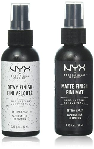 2 NYX Makeup Setting Spray ''MSS 01+02'' Matte/Dewy Finish (Long Lasting) by PROFESSIONALNYXMAKEUP