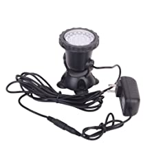Waterproof 36 LED 3 Color Submersible Spot Light for Water Garden Pond Fish Tank - US Plug