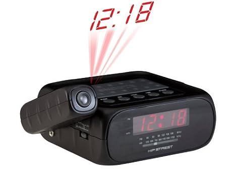 Hip Street HS-CRP329 Reloj Negro - Radio (Reloj, Rojo, Negro, Fecha ...
