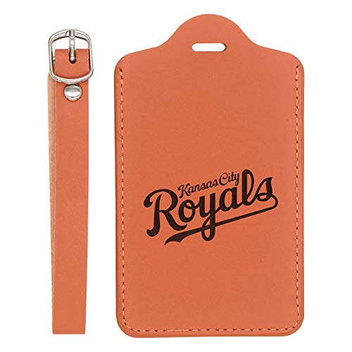(Mlb Kansas City Royals Letter 1 Engraved Synthetic Leather Luggage Tag (London Tan) - United States Standard - Handcrafted By Mastercraftsmen - For Any Type Of Luggage)