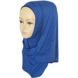 Ababalaya Fashion Womens Lightweight 100%Cotton Jersey Hijab Scarf