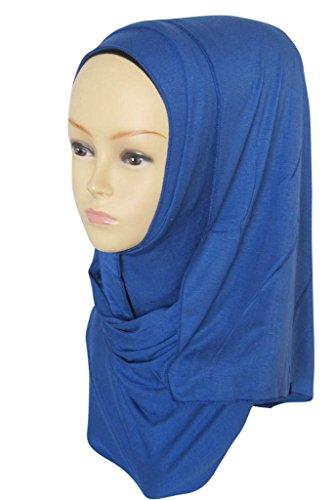 Ababalaya Fashion Womens Lightweight 100%Cotton Jersey Hijab Scarf (Jersey Cotton Scarf)
