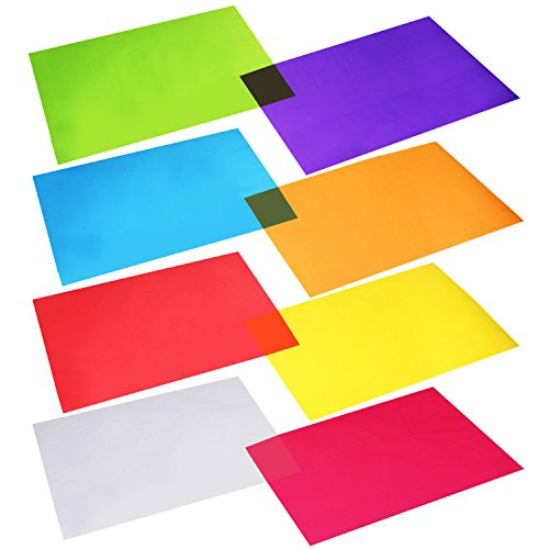 Outus Cellophane Wraps Cellophane Sheets Cello Sheets 11.8 by 8.5 Inch, 8 Colors, 104 Pieces