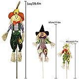 IFOYO Fall Harvest Scarecrow Decor, 3 Pack Happy
