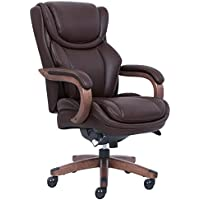 La Z Boy 46253B Big & Tall Executive Chair with Coffee Bonded Leather, Coffee Brown