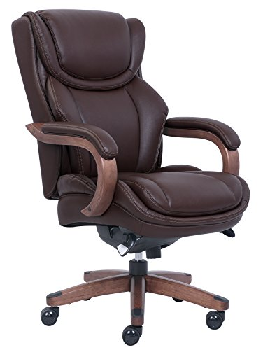 & Tall Executive Chair with Coffee Bonded Leather, Coffee Brown (La Z-boy Arm Chair)