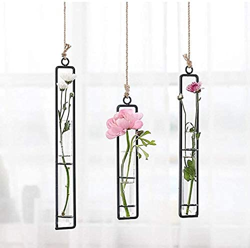 3pcs Wall Hanging Artificial Flower Vase Plant Holder Decoration for Mini Plant Indoor Outdoor Home Office Decoration