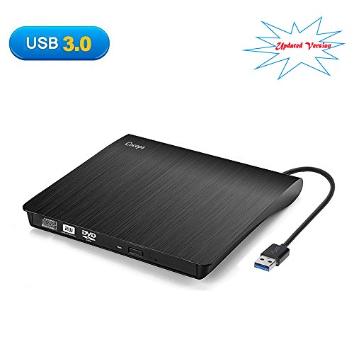 [Updated Version] Cocopa External CD DVD Drive USB 3.0 Portable CD DVD +/-RW Drive Slim DVD/CD ROM Rewriter Burner Writer, High Speed Data Transfer Laptop/Macbook/Desktop/MacOS/Windows10/8/7/XP/Vi