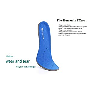 Sport Best Soft Breathable Lightweight Cushioning Arch Support Replacement Athletic Shoe Insole/Insert for Running,Plantar Fasciitis,Shin Splint,Feet Pain,Knee Pain,Heel Pain,Walking