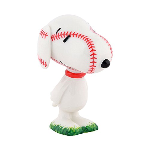 Peanuts Snoopy Baseball (Department 56 Peanuts Grand Slam Beagle Figurine, 3 inch)