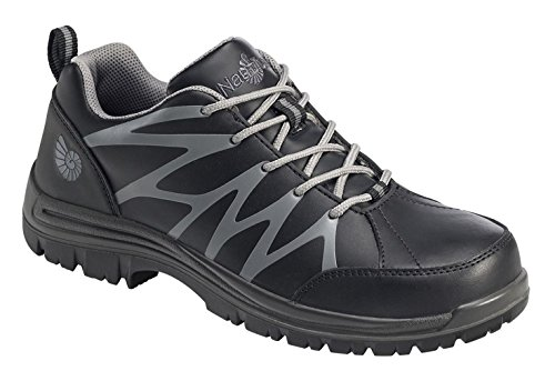 Nautilus 2318 Men's Composite Toe Slip Resistant Athletic Sneakers, Black Leather, Polyurethane, 10 ()