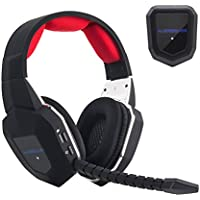 HAMSWAN Gaming Headset 2.4GHz Wireless Headphones with...