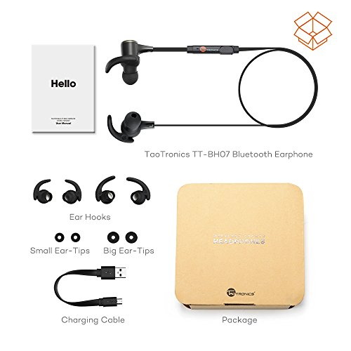 TaoTronics Bluetooth Headphones, Wireless 4.1 Magnetic