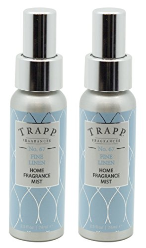Trapp Home Fragrance Mist, No. 67 Fine Linen, 2.5-Ounce (2-Pack)