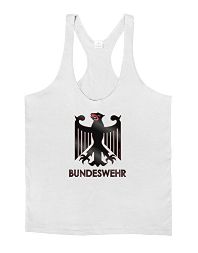 d9390d4ee47afe TooLoud Bundeswehr Logo with Text Mens String Tank Top - White - Small. by  lobbo